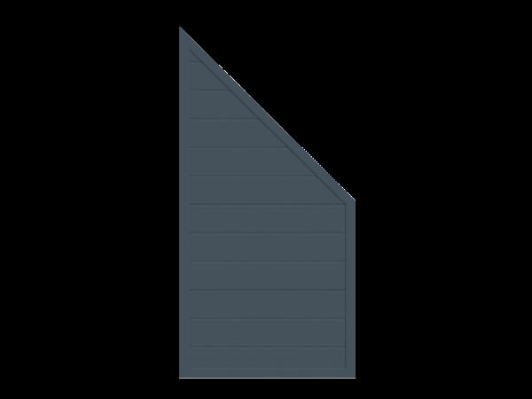 Alu-Sichtschutz Abschluss B = 0,90 x H = 1,80 / 0,90 m