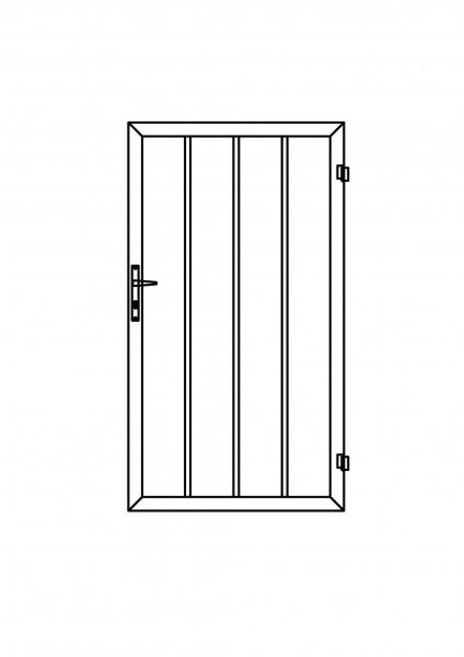 Colourline-Tür rechteckig B = 1,00 x H = 1,80 m