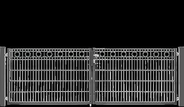 Schmucktor ROM 2-flügelig H=1,00 m, LW=3,30 m verzinkt