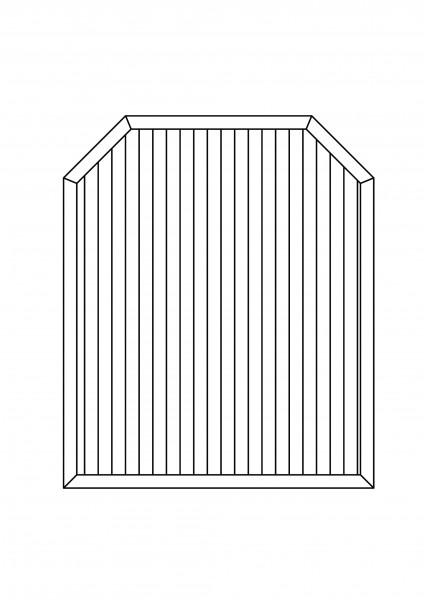 Sichtschutz-Element mit 2 Schrägen, B = 1,50 x H = 1,80/150 m