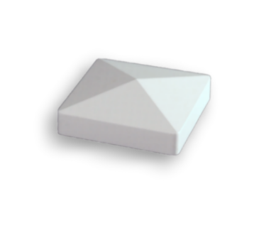 "Pfostenkappe ""Pyramide"" 120x120 mm weiß"