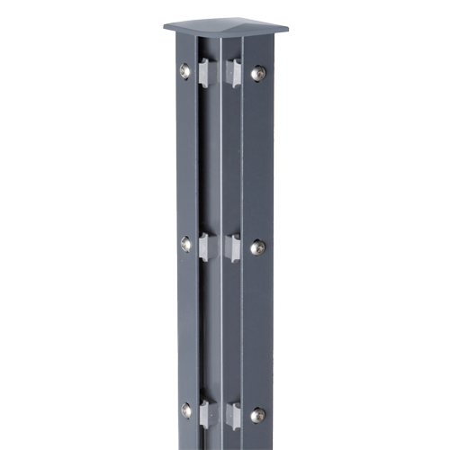 Eckpfosten Typ A für Zaunhöhe 1,60 m verzinkt