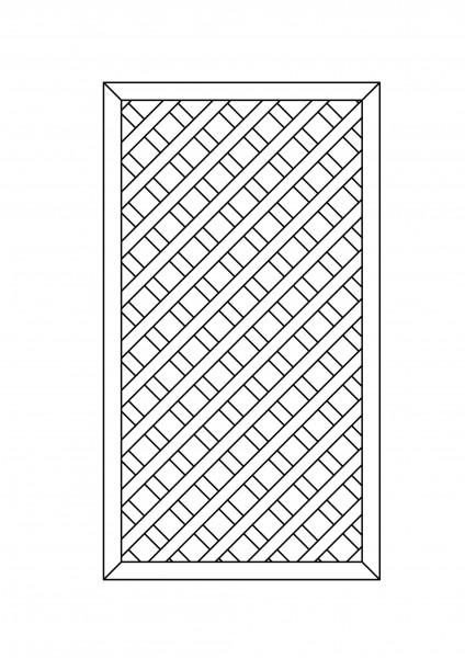Rankgitter rechteckig B = 1,00 x H = 1,80 m