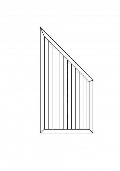 """Sichtschutz-Element mit Abschluss-Schräge """"Sondermaß"""" maximal B = 0,90 x H = 2,00/1,20 m"""
