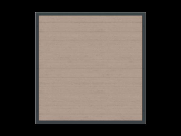 Alu-Resysta-Sichtschutz rechteckig B = 1,80 x H = 1,80 m