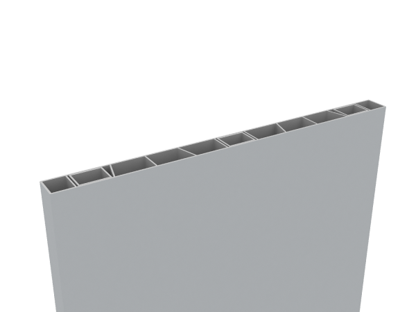 Palisaden-Sichtschutz 500 x 35mm Hellgrau, inkl Abschlusskappe