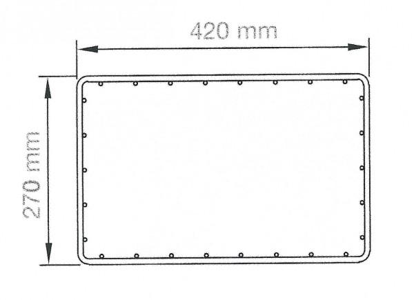 RUBIN rechteckig 42 x 27 cm, Höhe 2400 mm verzinkt