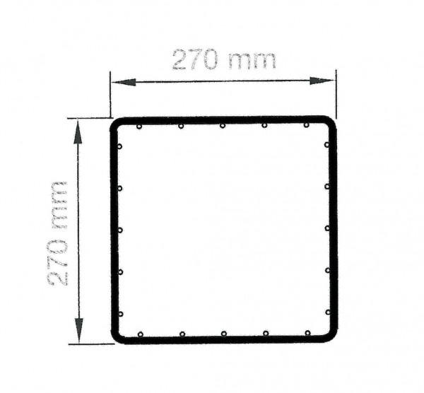 RUBIN quadratisch 27 cm, Höhe 2200 mm verzinkt