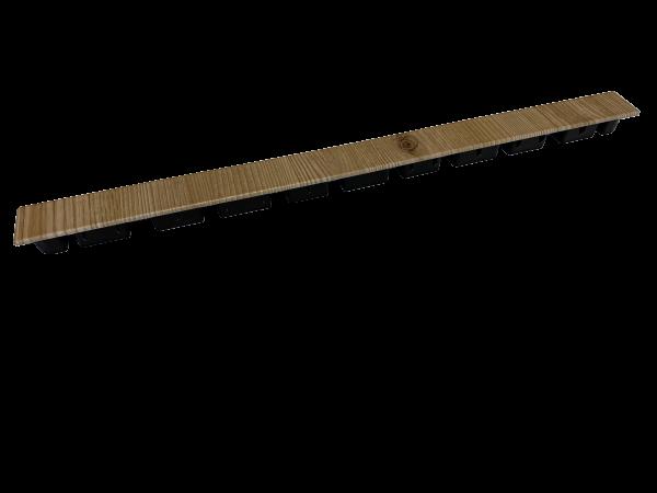 Abschlusskappe 500 x 35mm Dekor
