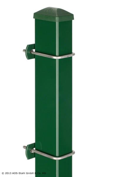 Pfosten Typ U für Zaunhöhe 0,60 m RAL6005