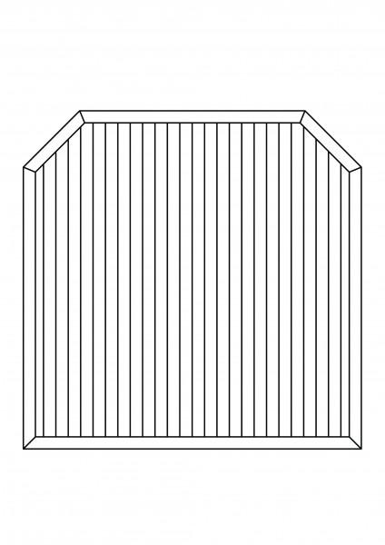 """Sichtschutz-Element mit 2 Schrägen """"Sondermaße"""" bis maximal B = 1,80 x H = 1,80/1,50 m"""