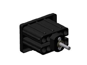 schwarzes KS-Einschlagstücke 60/40mm, Stange mit Spiralfeder
