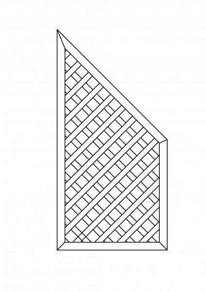 Rankgitter Abschluss, mit Schräge, B = 0,90 x H = 1,80 / 0,90 m