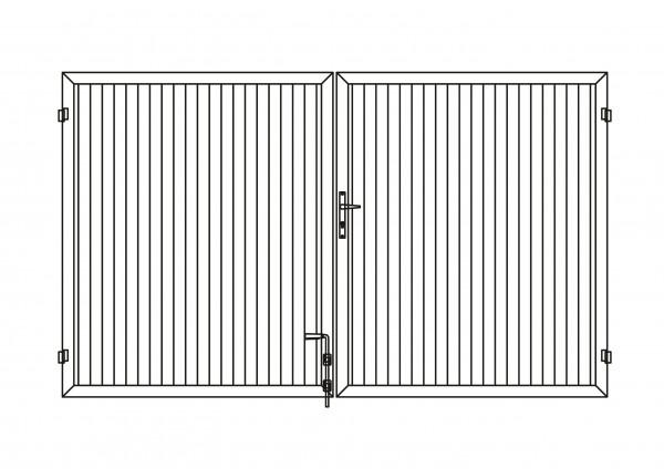 Sichtschutz-Doppeltor rechteckig B = 3,00 x H = 1,80 m