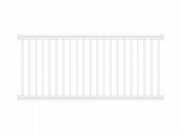 Railing - Zaunelement 2,00 m x 0,90 m, Füllung: 35 x 30 mm, weiß