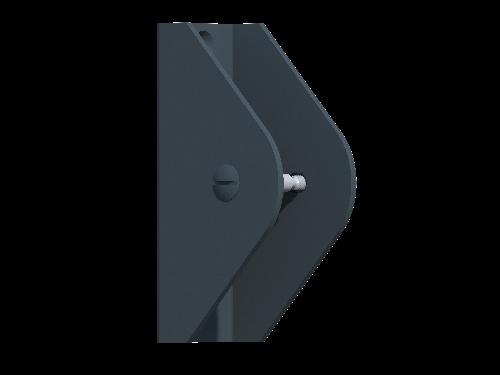 Alu-U-Halterungen 2-tlg. inkl Schrauben, 1 Set = 4 Stück