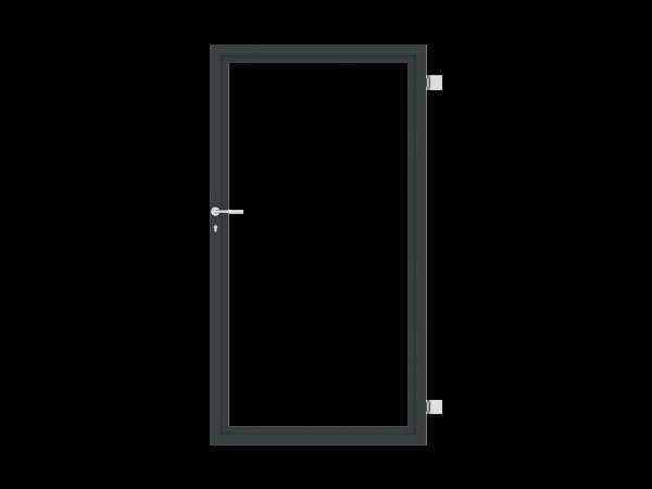 Sichtschutz-Tür einflügelig B = 1,00 x H = 1,80 m