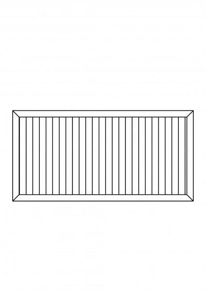 Sichtschutz-Element rechteckig B = 1,80 x H = 0,90 m