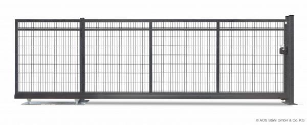 Freitragendes Schiebetor V-Star-F60 - 3000x1000 mm - DSMS 8/6/8 mm - Handbetrieb