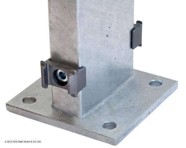 Gabionen-Doppelpfosten für Zaunhöhe 1230 mm verzinkt