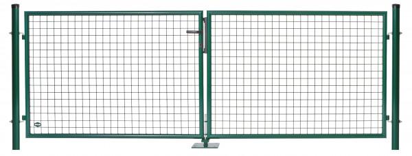 Garten-Doppeltor B=2 x 1,50 m H=1,00 m grün