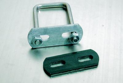 Bügel für Rechteckpfosten, Matte 6/5/6 mm, verzinkt