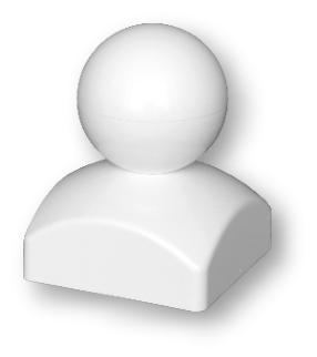"""Pfostenkappe """"Kugel"""" 87x87 mm"""