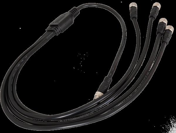 Y-Verteiler IP65 für bis zu 4 LED-Streifen, schwarz