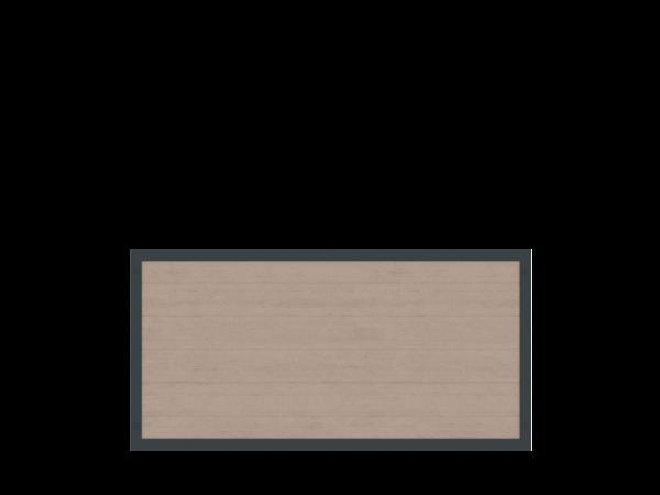 Alu-Resysta-Sichtschutz rechteckig B = 1,80 x H = 0,90 m