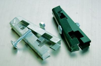 Gittermattenverbinder U-Form RAL7016, 3 Sets