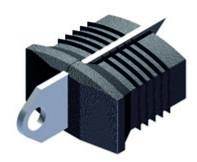 KS-Einschlagstück mit Befestigungslippe aus Edelstahl