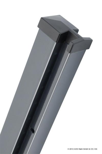 Pfosten Typ HP (MO) für Zaunhöhe 1,00 m RAL7016