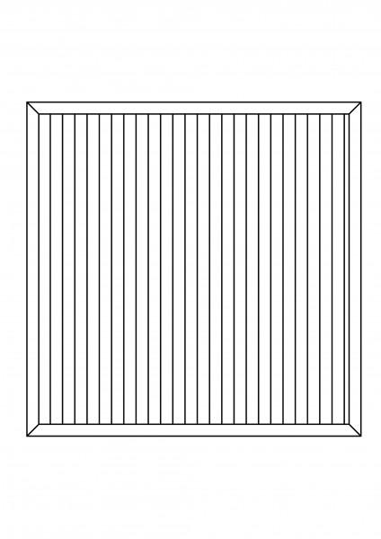 """Sichtschutz-Element rechteckig """"Sondermaß"""" bis maximal B = 1,80 x H = 1,80 m"""