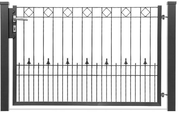 Schmucktor PARIS 1-flgl. H=0,80 m, B=1,63 m RAL 6005