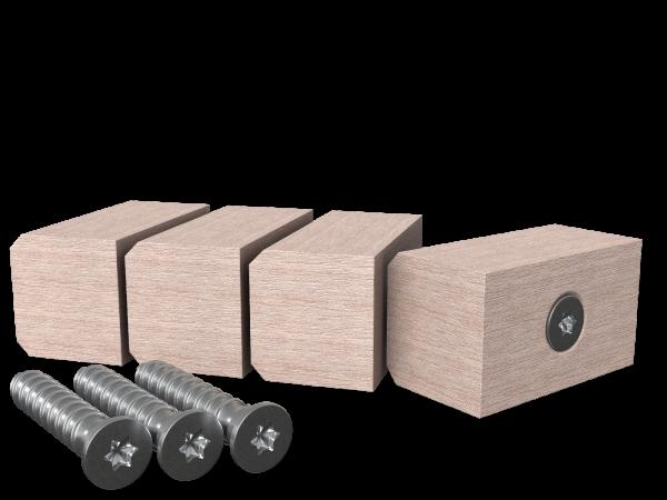 Resysta Start- / Abschluss-Set 16/18 x 30 mm, je 4 Stück inkl. Schrauben