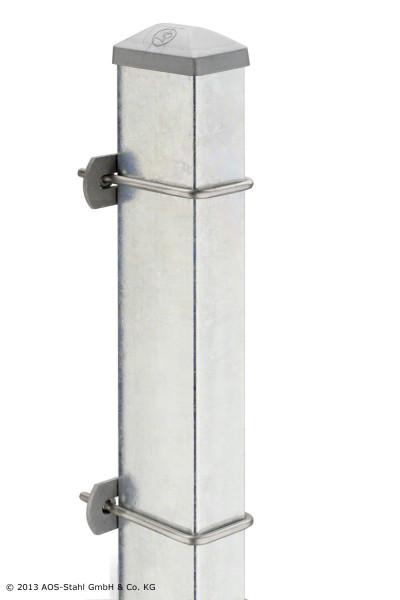 Pfosten Typ U für Zaunhöhe 1,00 m verzinkt