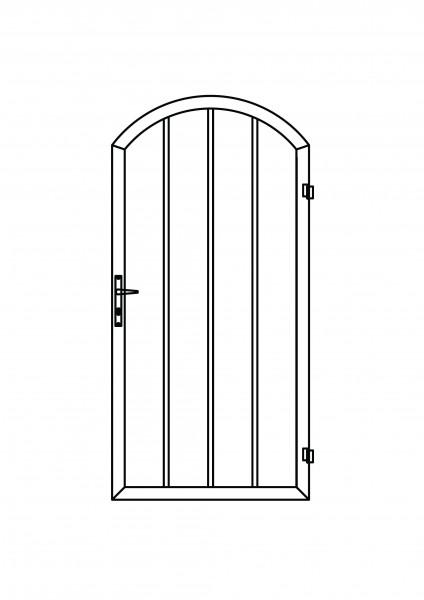 Colourline-Tür Bogen oben B = 1,00 x H = 1,80 / 205 m