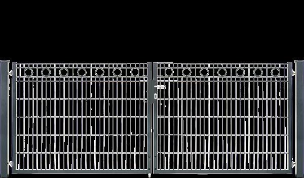 Schmucktor ROM 2-flügelig H=1,00 m, LW=3,30 m RAL7016