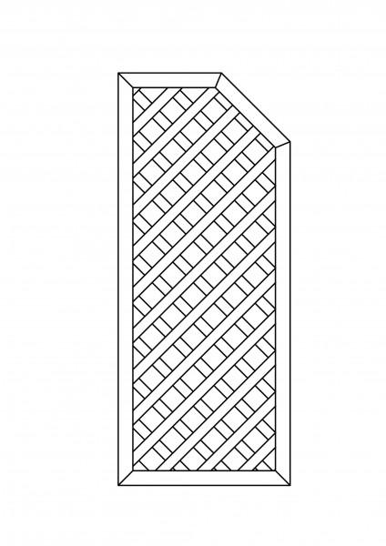 Rankgitter rechteckig, mit 1 Schräge, B = 0,75 x H = 1,80 / 1,50 m