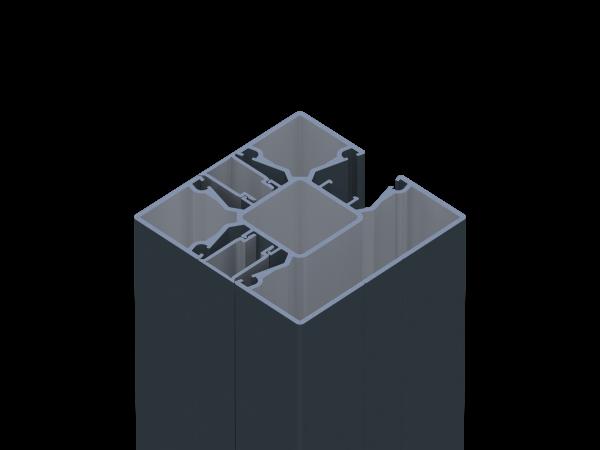 Alu-Steckzaunpfosten 8,70 x 8,70 cm