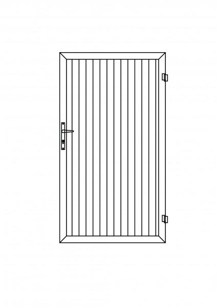 Sichtschutz-Tür rechteckig B = 1,00 x H = 1,80 m