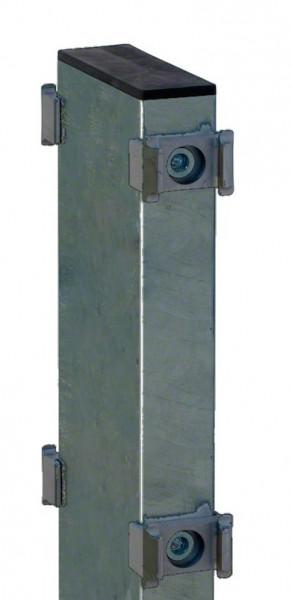 Gabionen-Doppelpfosten für Zaunhöhe 830mm RAL 7016
