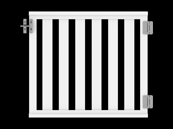 Railing - Zaun-Pforte 1,00 m x 0,90 m, Füllung: 82 x 22 mm, weiß