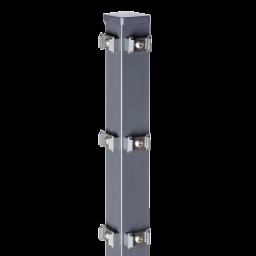Eckpfosten Typ PM für Zaunhöhe 2,00 m RAL7016