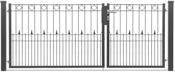 Schmucktor PARIS 2-flgl. H=0,80 m, B=2,62 m VERZINKT