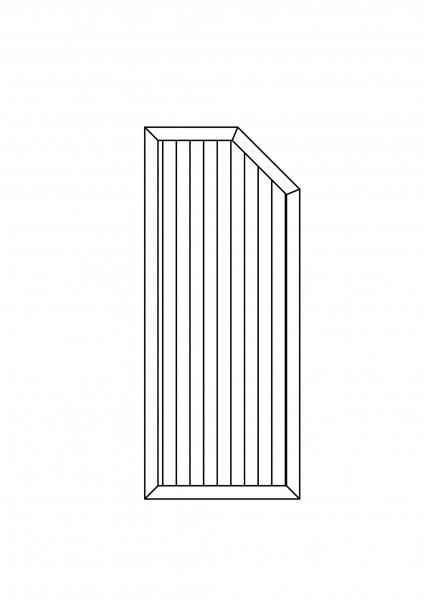 Sichtschutz-Element mit 1 Schräge B = 0,75 x H = 1,80/150 m