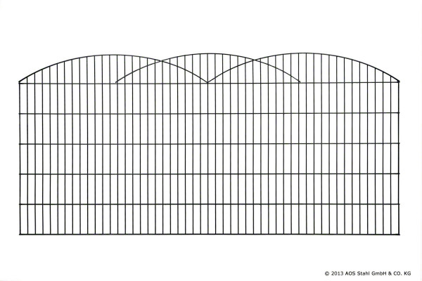 Schmuckzaun INNSBRUCK H= 1,00 m RAL6005