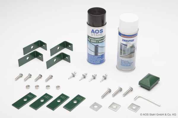 Montageset - Zink, Lack & Zubehör RAL 6005 moosgrün