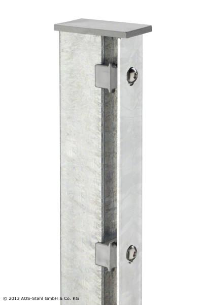 Pfosten TYP A für Zaunhöhe 1,00 m verzinkt