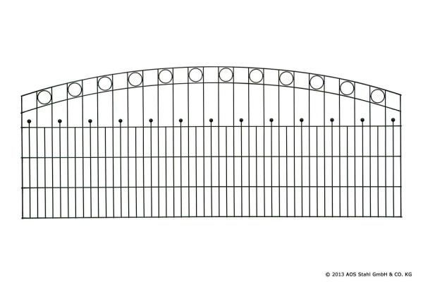 Schmuckzaun WIEN H= 1,60 m verzinkt